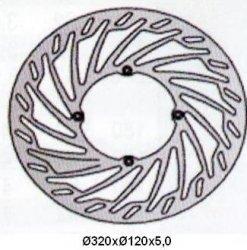 Tarcza hamulcowa przednia Husqvarna TE 450 (02-06-)