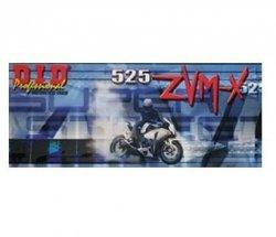 DID 525 ZVMX Super Street łańcuch motocyklowy x-ring złoty