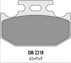 Delta Braking YAMAHA 125 YZ (90-97) klocki hamulcowe tył