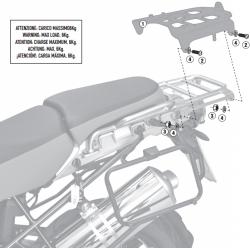 KAPPA stelaż kufra centralnego BMW R1200GS ADVENTURE (06-13)