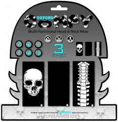OXFORD Comfy kołnierz wielofunkcyjny - wiatroodporny komin (3 sztuki) kolor Skeleton