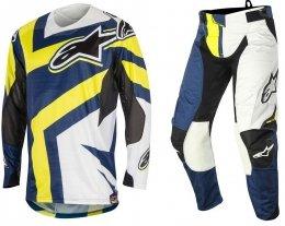 Alpinestars Techstar Factory spodnie motocyklowe 34 + bluza motocyklowa L - Komplet odzieży MX enduro Wyprzedaż Kolekcji!