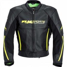 FLM PACE kurtka skórzana czarna/neon