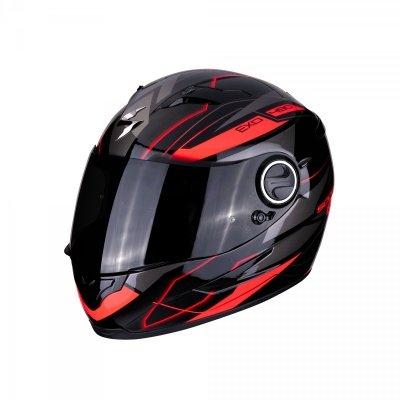 SCORPION EXO-490 Nova kask motocyklowy czarny-czerwony