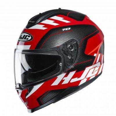 KASK HJC C70 KORO BLACK/RED/WHITE XL