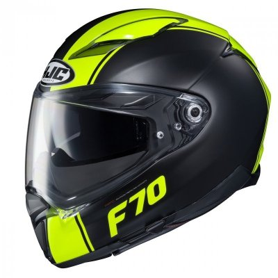 KASK HJC F70 MAGO BLACK/FLO YELLOW M