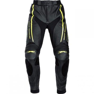 FLM PACE spodnie skórzane czarne/neon