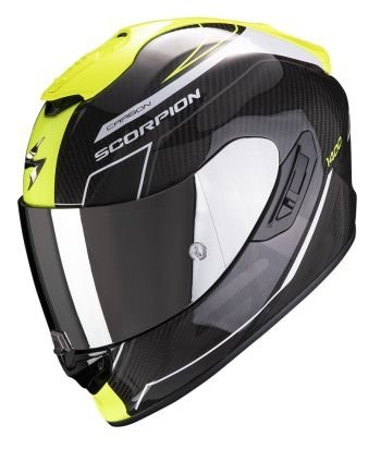 SCORPION KASK MOTOCYKLOWY JUNIOR EXO-1400 CARBON BEAUX WH NEON