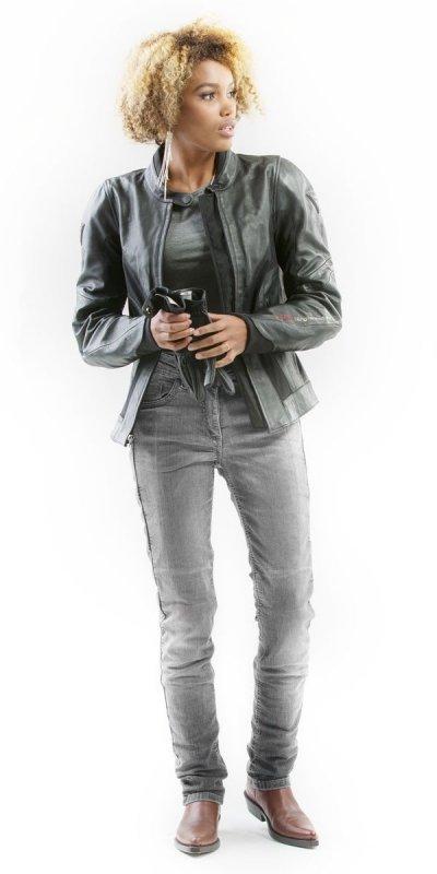 Mottowear STELLA GREY jeansy spodnie motocyklowe damskie