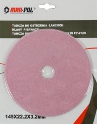 MAR-POL TARCZA DO OSTRZENIA ŁAŃCUCHA 145 x 22,2 x 3,2mm