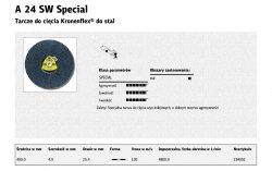 KLINGSPOR TARCZA DO CIĘCIA METALU 400mm x 4,0mm x 25,4mm  A24SW Special