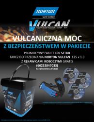 NORTON ZESTAW TARCZ VULCAN 125mm x 1mm METAL/INOX 100szt. WIADERKO+RĘKAWICZKI