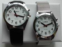 Męski zegarek mówiący TEMPUS na pasku