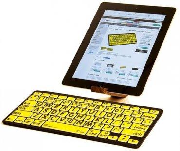 Klawiatura Bluetooth XL Print - żółta