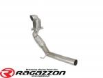 Katalizator metaliczny 100cpsi i rura elastyczna RAGAZZON EVO LINE sportowy wydech