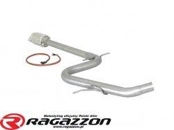 Katalizator metaliczny + tłumik środkowy przelotowy RAGAZZON EVO LINE sportowy wydech