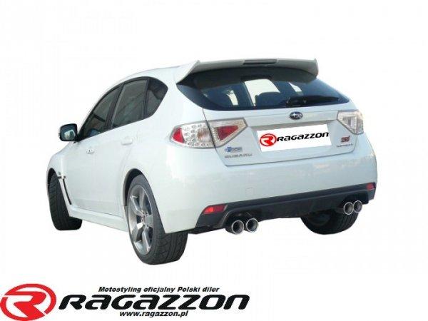 Tłumik końcowy podwójny RAGAZZON Subaru Impreza 2.5i WRX STi hatchback sportowy wydech