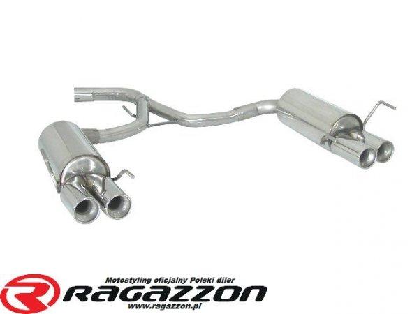 Tłumik końcowy podwójny RAGAZZON EVO LINE CADAMURO sportowy wydech