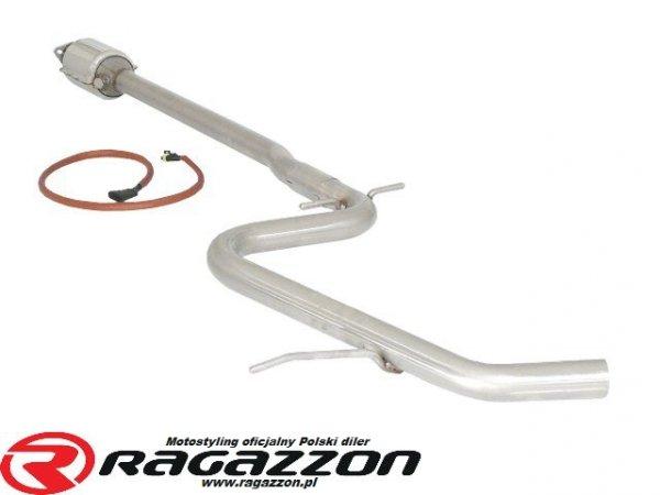 Katalizator metaliczny + tłumik środkowy przelotowy RAGAZZON Volkswagen Golf V 1.4 TSI sportowy wydech
