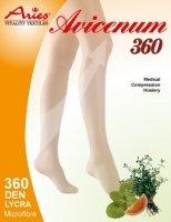 ARIES Pończochy przeciwżylakowe II stopnia ucisku samonośne z mikrokapsułkami ziołowymi AVICENUM 360 (23-32 mmHg)