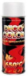 Spray lakier farba biały żaroodporny DECO COLOR do tłumików 650