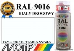 Lakier farba biały drogowy półmat 400 ml akrylowy acryl szybkoschnący RAL 9016