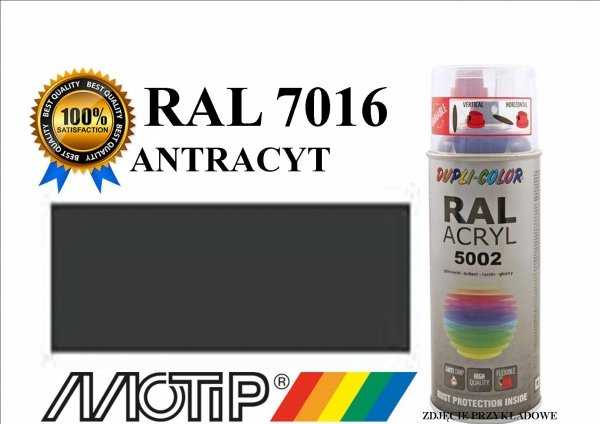 Lakier farba antracyt połysk 400 ml akrylowy acryl szybkoschnący RAL 7016