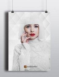 Plakat A3 All White od Noble Lashes