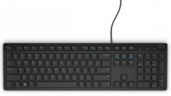 Keyboard : US-Euro (Qwerty) Dell KB216 Quietkey USB, black