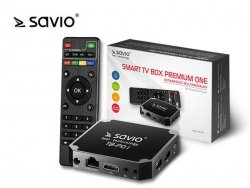 SAVIO Smart TV Box Premium One, Android 7.1, HDMI v2.0, WiFi, 4K UHD, 2xUSB, SD