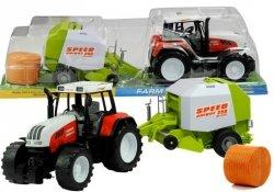 Duży Traktor z Maszyną 3 Modele Ruchome Elementy 65 cm