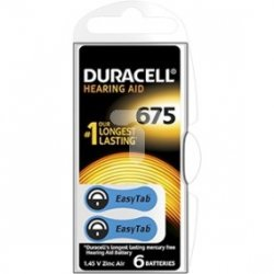 Bateria do aparatów słuchowych ACTIVAIR DA675 DURACELL /6szt./