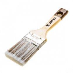 Pędzel płaski do drewna 1.5cala uchwyt drewniany włosie mieszane do bejc lakierobejc impregnatów 20B952