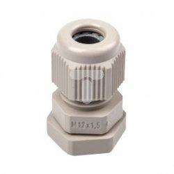 Dławnica kablowa M 12 IP66 poliamidowa jasnoszara ASM 12 3600200