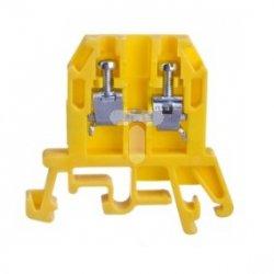 Złączka szynowa gwintowa ZUG-G 2,5 żółta R34RR-01010100101