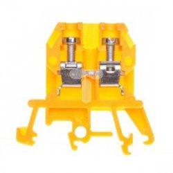 Złączka szynowa 2-przewodowa 4mm2 żółta ZUG-G 4 YL R34RR-01010100801