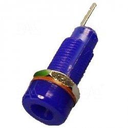 Gniazdo panelowe 4mm GL5-BU 10A, niebieskie   SCI