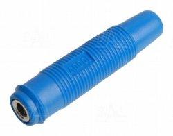 Gniazdo 4 mm na przewód GP430-BU 24A niebieski
