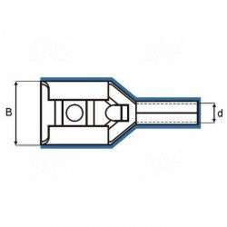 ZKF-2.5mm2-4.8R Konekt. żeński złocony, czerw. osłonka