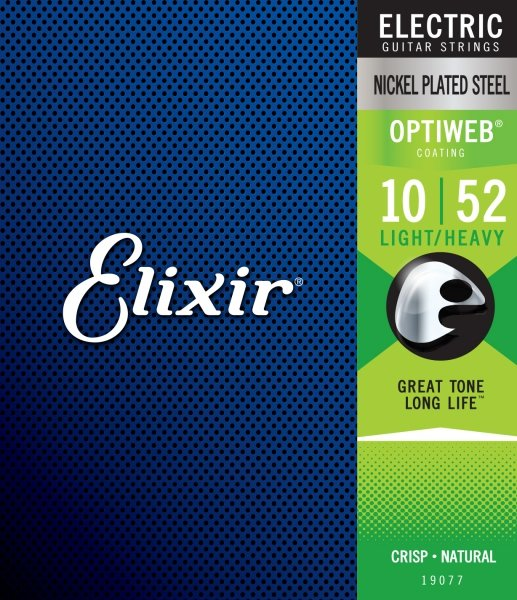 Elixir 19077 Optiweb Light/Heavy 10-52