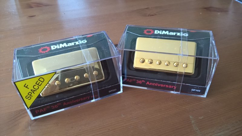 Dimarzio PAF 36 th Anniversarry Neck + Bridge GOLD