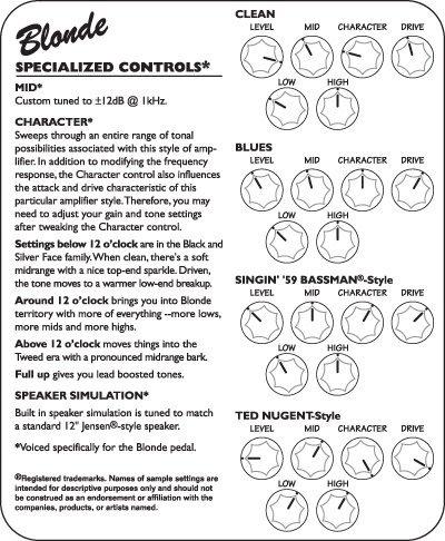 Tech 21 SansAmp Character Blonde Transport Gratis
