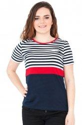 Bluzka w marynarskie paski, t-shirt rozmiar 46