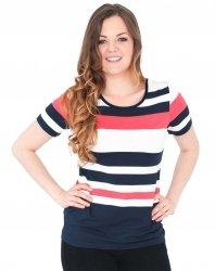 Bluzka w marynarskie paski, t-shirt rozmiar 50