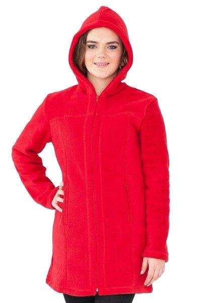 Płaszcz polarowy z kapturem, Kreator Studio Mody, r. 38-40 M