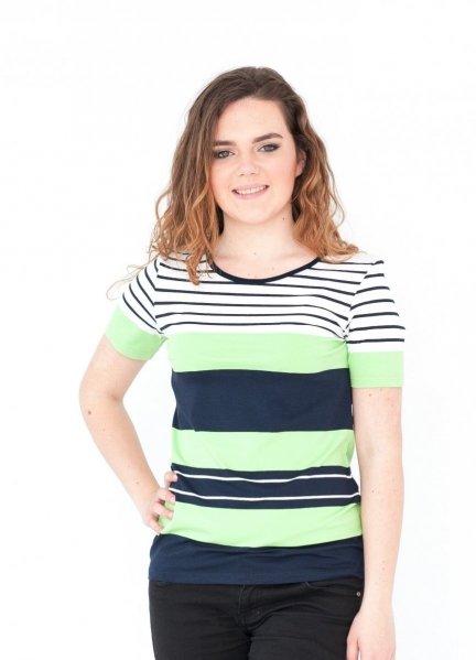 Bluzka w paski, t-shirt rozmiar 46
