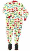 Pattern Moose Footie - Spací kalhoty LazyOne