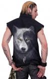 Wolf Chi - Bezrękawnik Denim Spiral