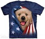Patriotic Golden Pup - The Mountain