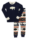 Buffalo Fair Isle - Piżama Dziecięca Długi rękaw - LazyOne